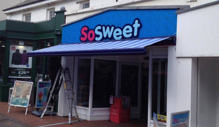 So Sweet Sweet Shop with newly fitted awning