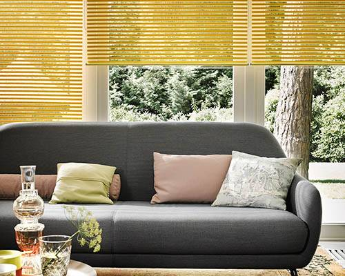 Luxaflex Facette Blinds yellow jpg