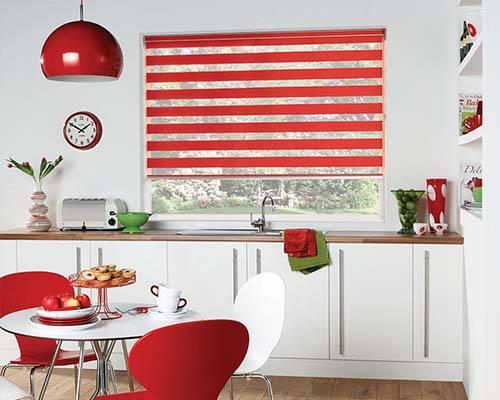 louvolite vision blinds in kitchen
