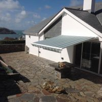 awning fitted to bungalow