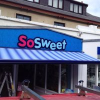 awning fitted to So Sweet sweet shop
