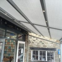 canopy fitted to a cafe