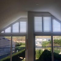 bespoke window shutters fitted up to to eaves