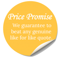 price promise sticker - we will make like for like quotes